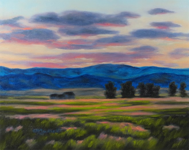 """Dawn Frosted"" original fine art by Carol Zirkle"