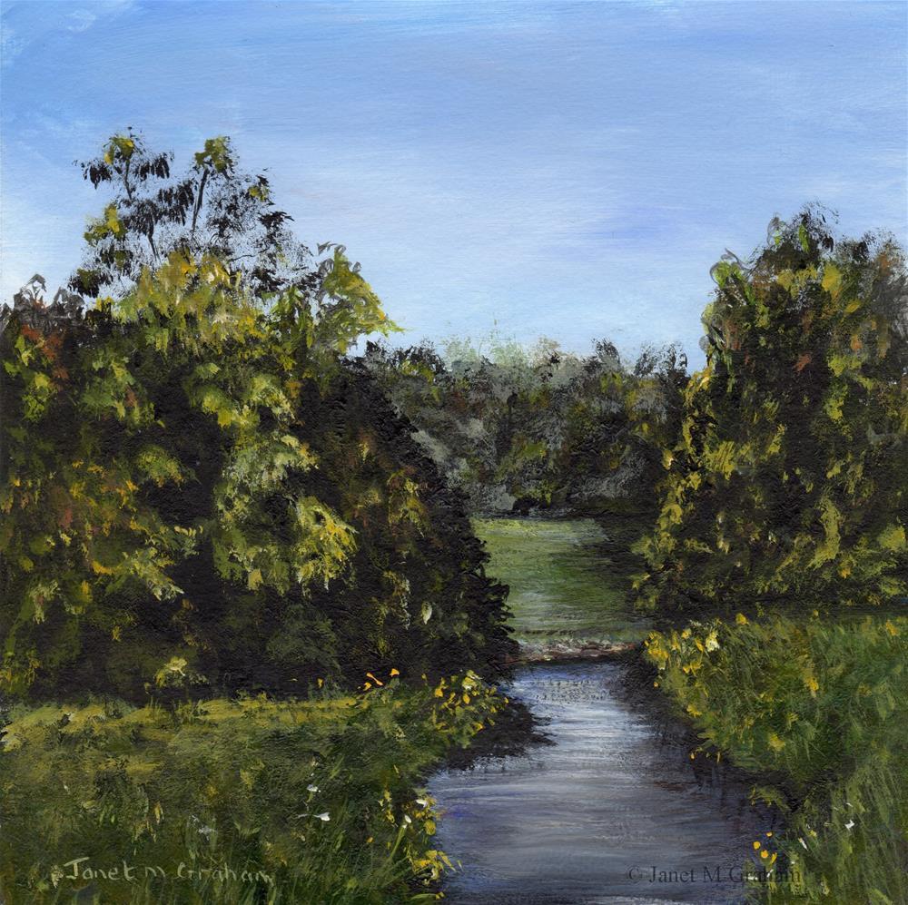"""Meadow Stream"" original fine art by Janet Graham"