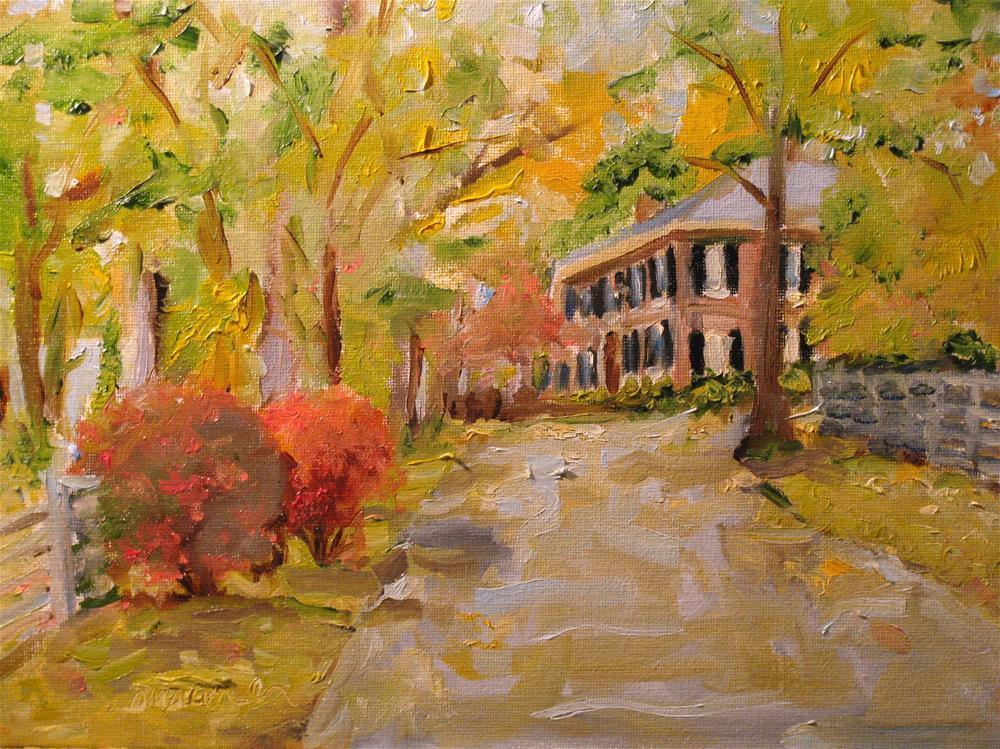 """Cross Bridges"" original fine art by Susan Elizabeth Jones"