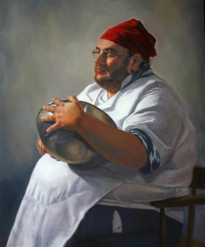"""Chef"" original fine art by Liz Balkwill"
