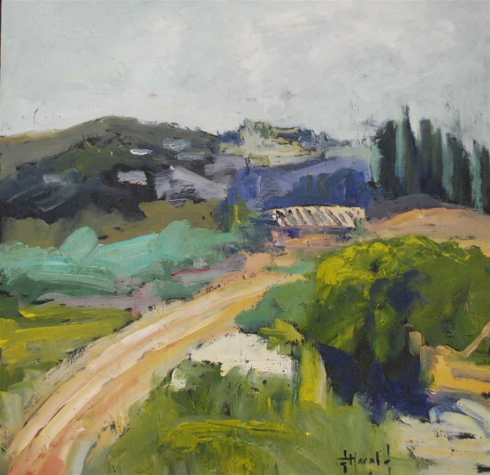 """Luberon France"" original fine art by Deborah Harold"