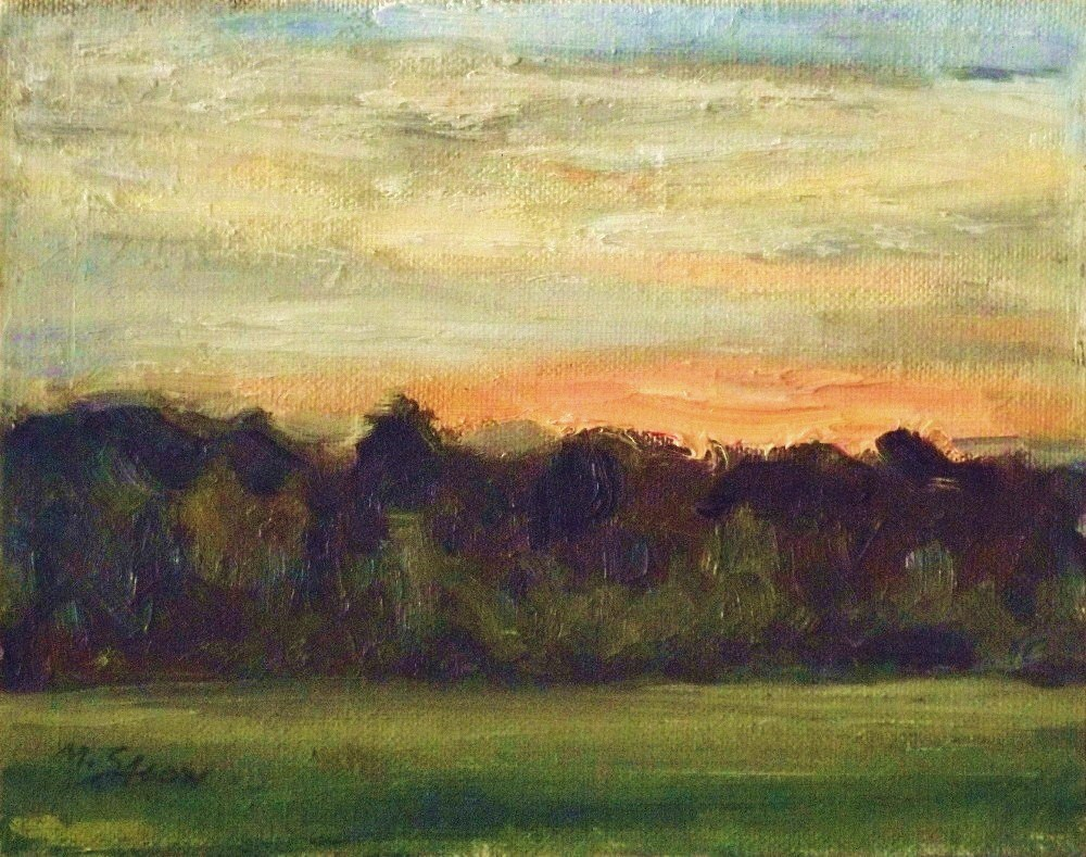 """""""Sunset at the forests edge"""" original fine art by Michael Sason"""