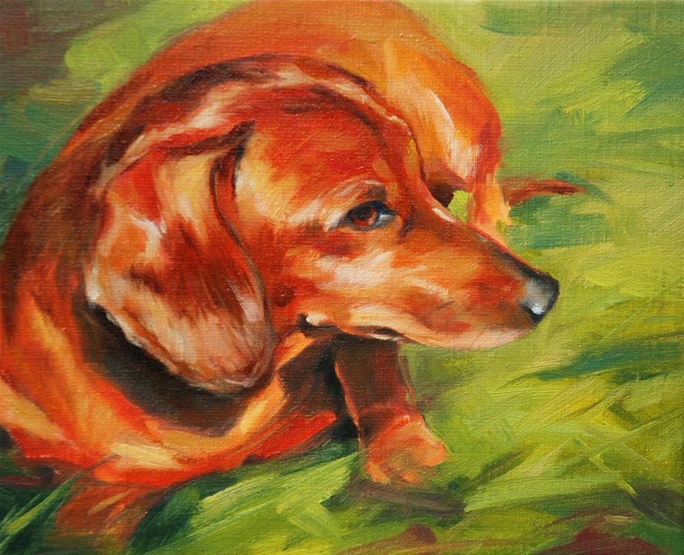 """Dina"" original fine art by Olga Touboltseva-Lefort"