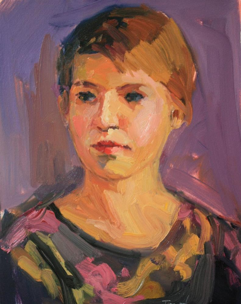 """Portrait Study #28"" original fine art by Kathryn Townsend"
