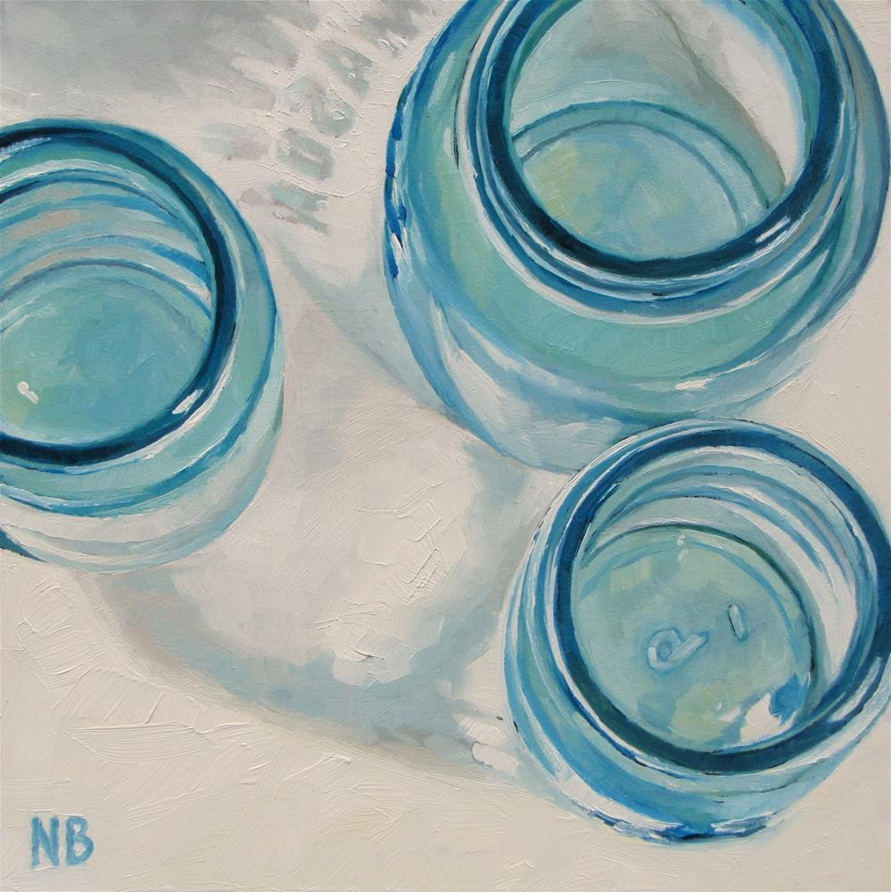 """Mason Jar Trio"" original fine art by Nora Bergman"