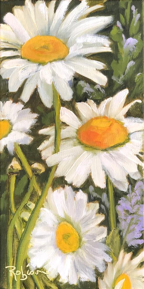 """""""Garden Daisies"""" original fine art by Renee Robison"""