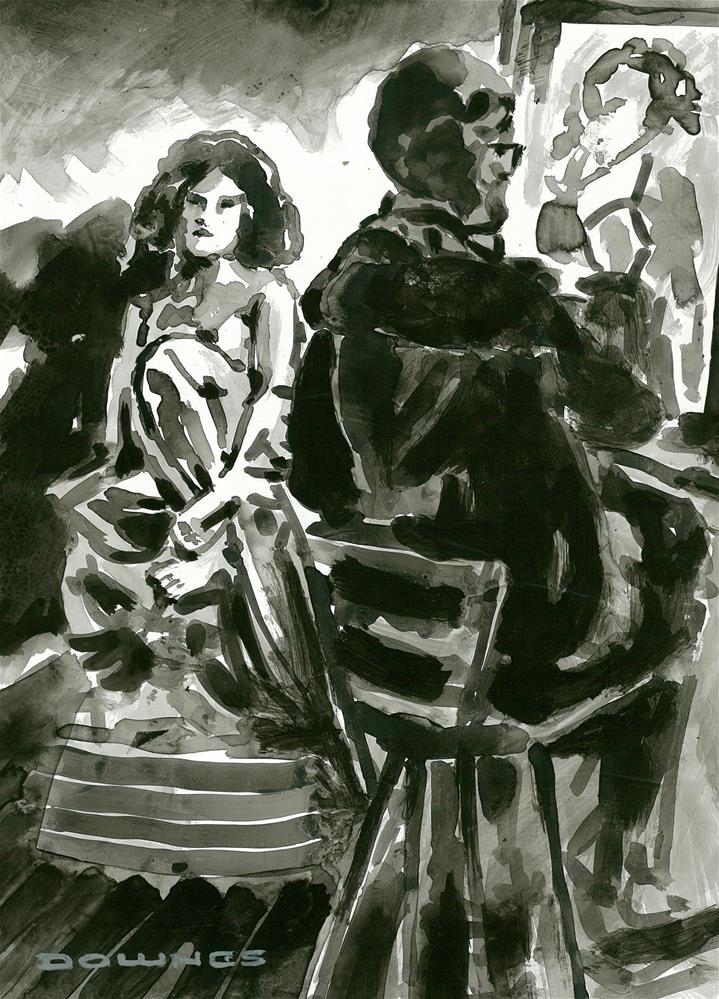 """311 ARTIST & MODEL 6"" original fine art by Trevor Downes"