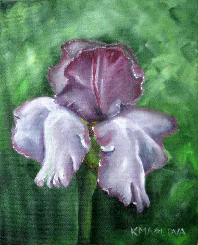 """Iris 3"" original fine art by Kulli Maslova"