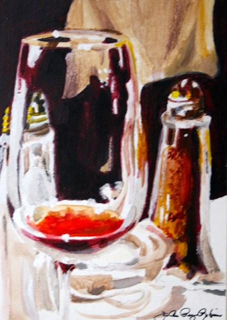 """Salt, Pepper and Pinot"" original fine art by JoAnne Perez Robinson"