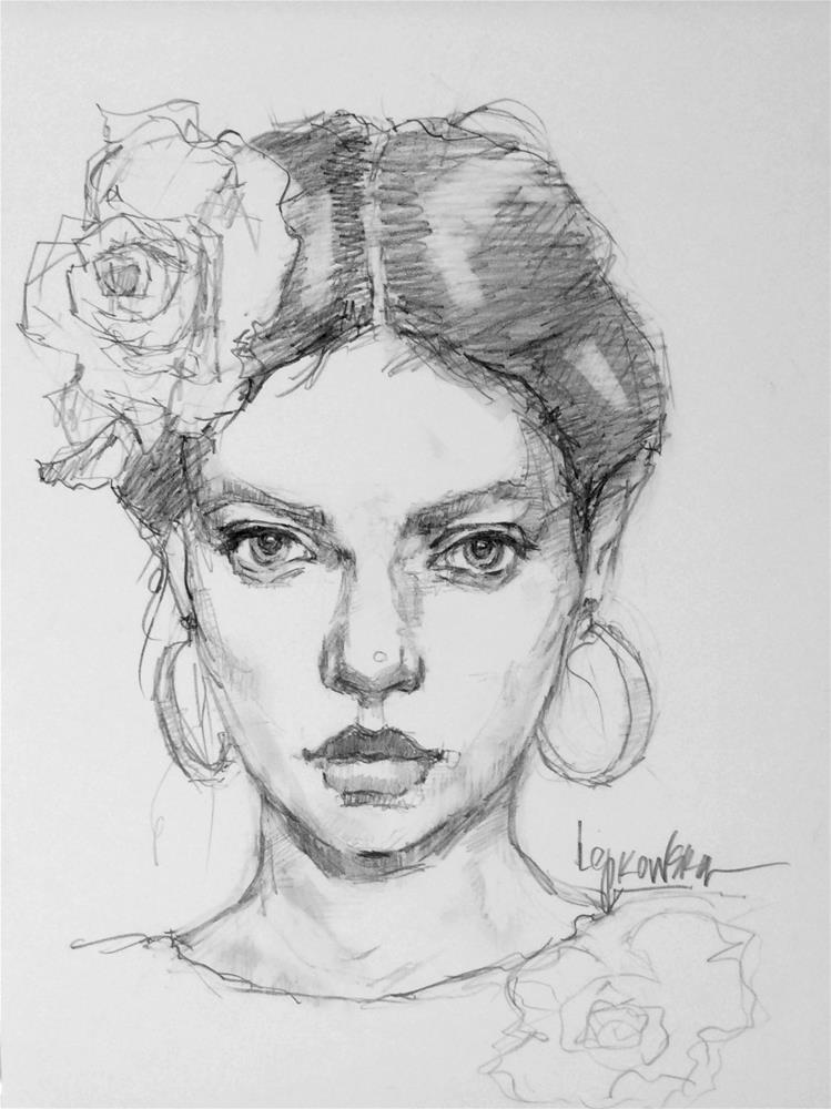 """""""Flamenco Dancer 4"""" original fine art by Laurie Johnson Lepkowska"""
