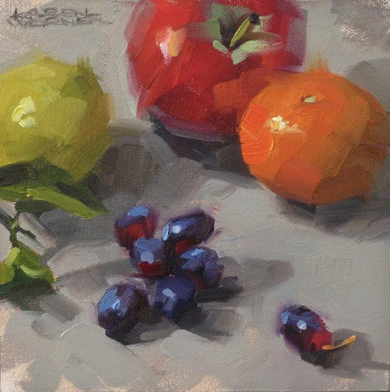 """""""Grape Escapes"""" original fine art by Karen Werner"""