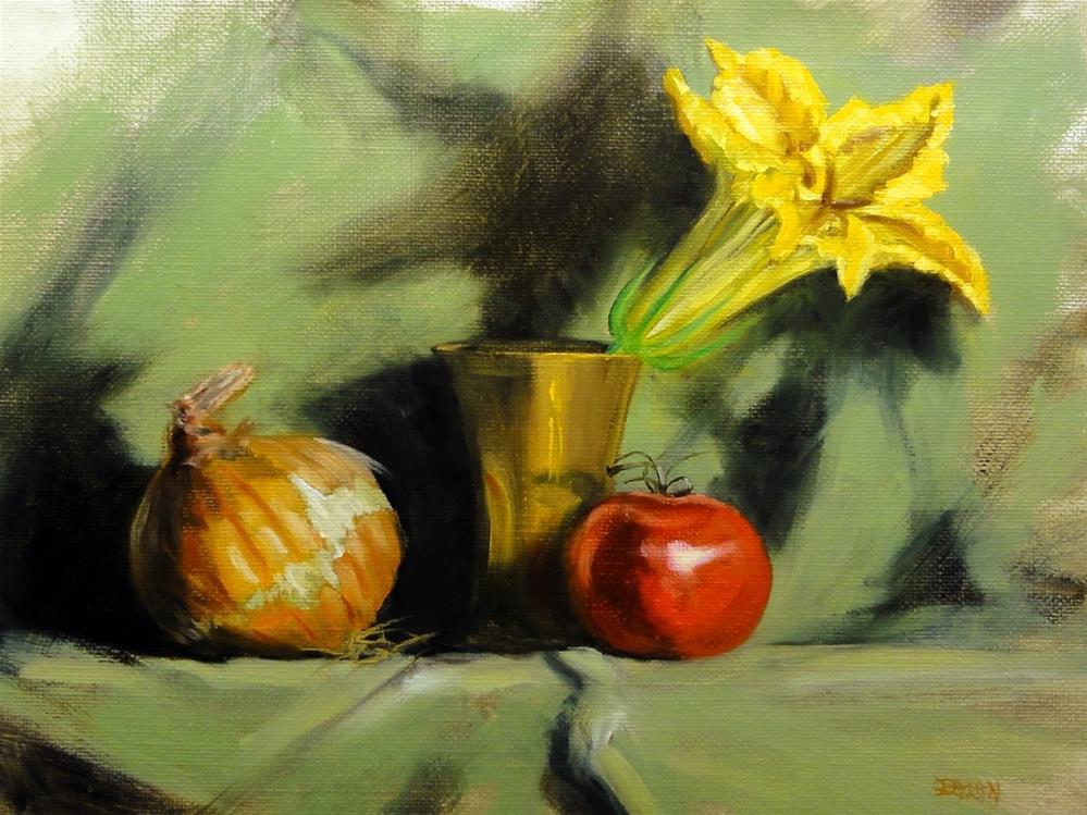 """Squash Blossom Scene Stealer"" original fine art by Dalan Wells"