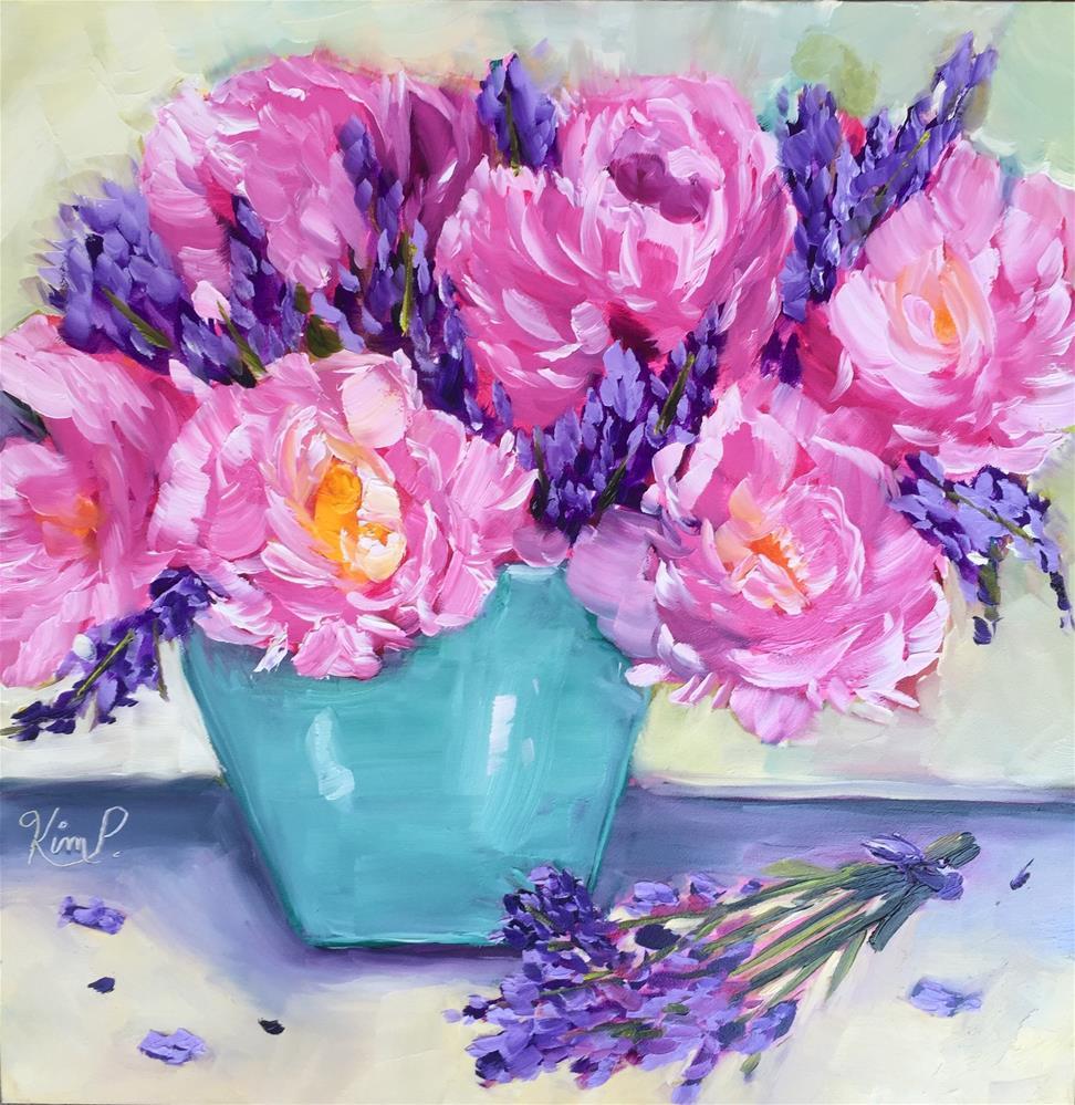 """Pink Peonies Still Life "" original fine art by Kim Peterson"
