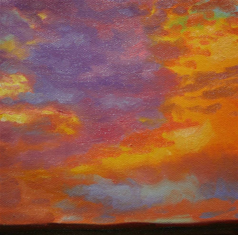 """""""Sunset in Violet and Yellow"""" original fine art by K.R. McCain"""