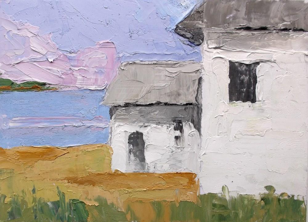 """Ocean Bluff Cottages"" original fine art by lynne french"