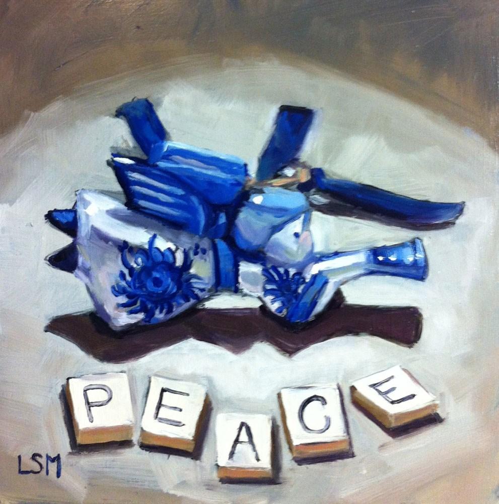 """Peace Ornament"" original fine art by Linda Marino"