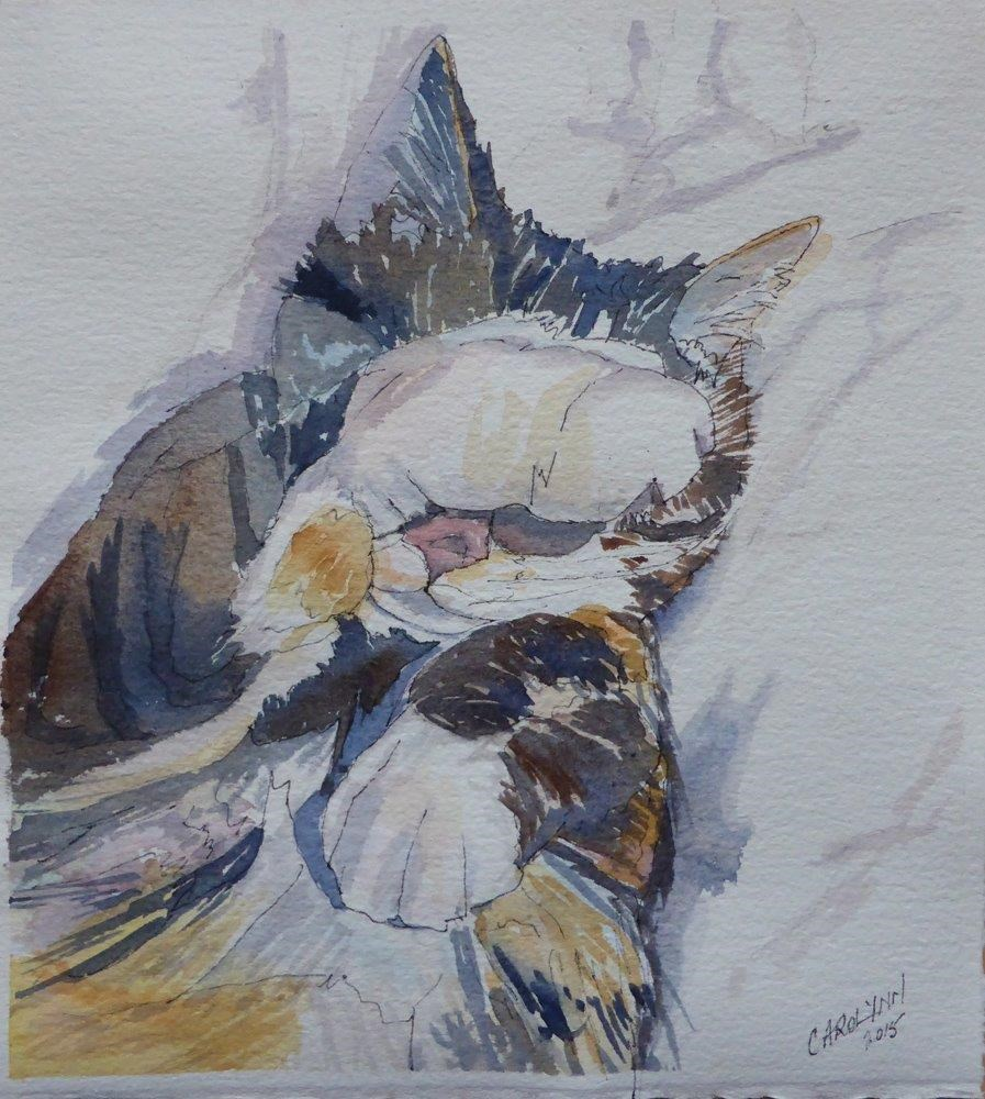 """Just Give Me Five More...."" original fine art by Carolynn Doan"