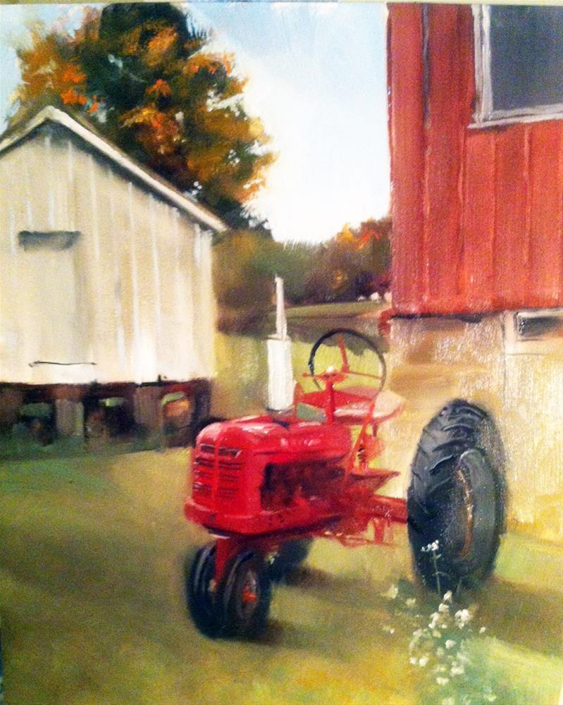 """Big Red"" original fine art by Beth Bathe"
