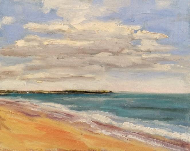 """Coastal View"" original fine art by Deborah Newman"