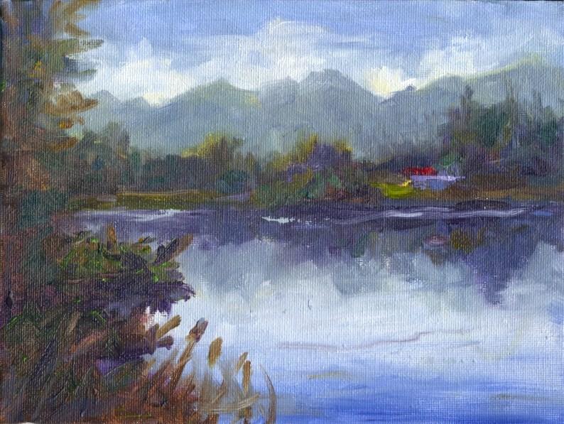 """""""Bancroft Park """" original fine art by Francine Dufour~Jones"""