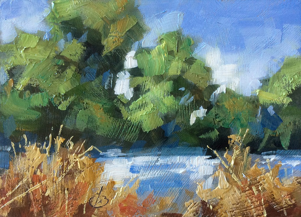 """ALONG THE EDGE"" original fine art by Tom Brown"