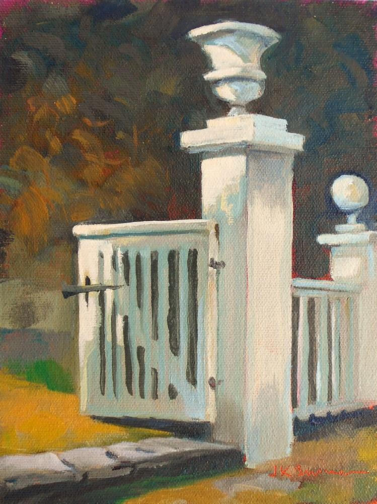 """""""Latinmeria Gate at Winterthur"""" original fine art by Jeanne Bruneau"""