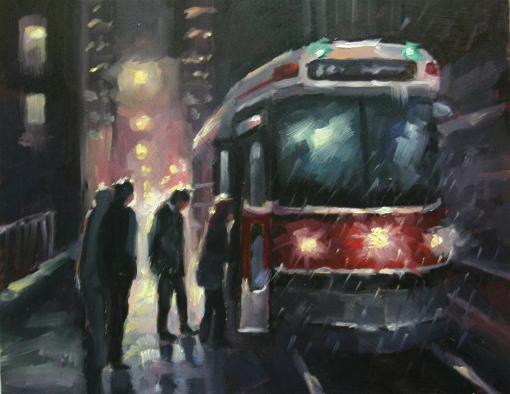 """Riding The Red Rocket"" original fine art by Catherine Jeffrey"