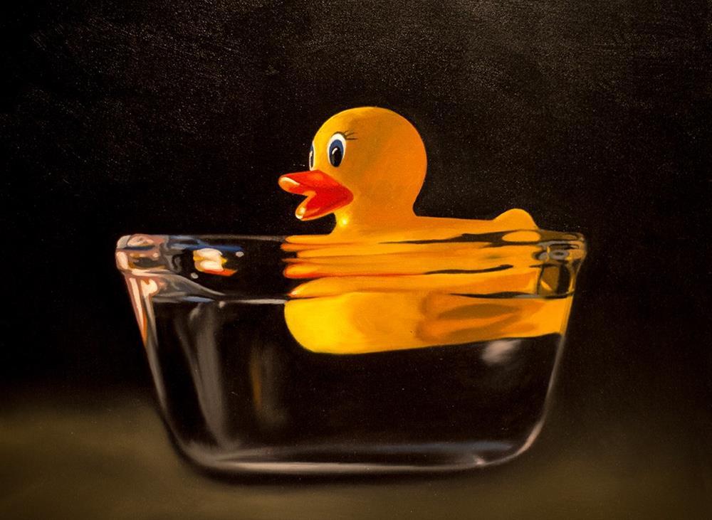"""""""Rubber Ducky Bowl"""" original fine art by Lauren Pretorius"""