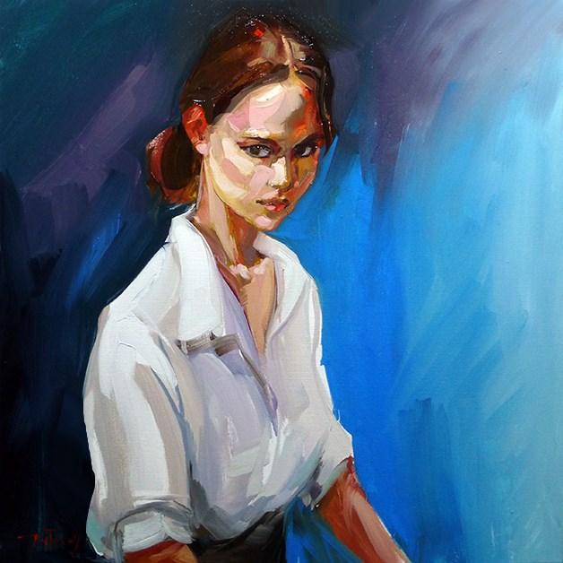 """""""Model"""" original fine art by Jurij Frey"""
