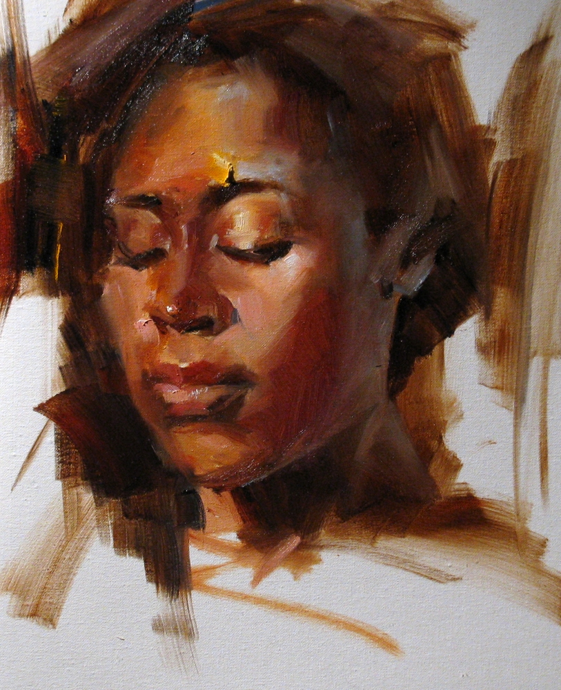 """Head Study 122111"" original fine art by Qiang Huang"