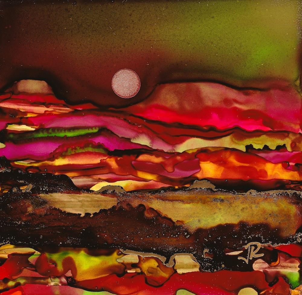 """Dreamscape No. 388"" original fine art by June Rollins"