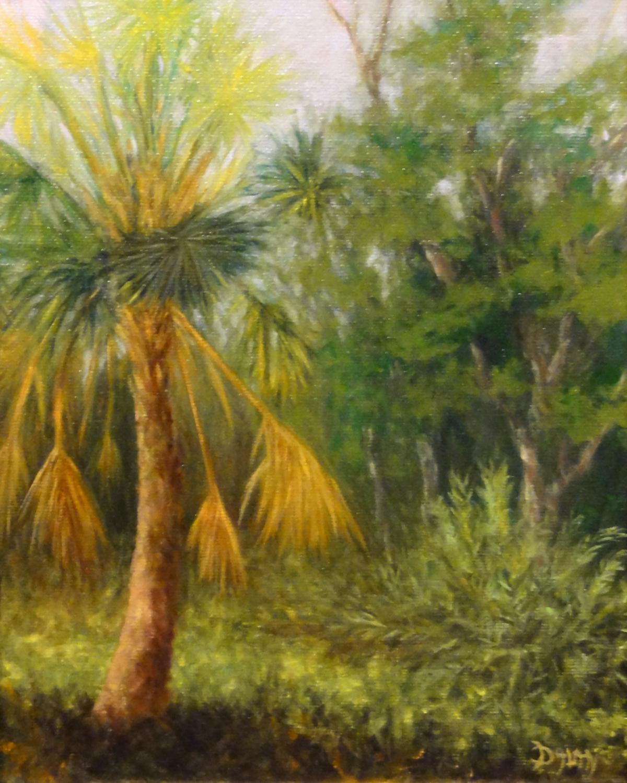 """""""Fan Palm"""" original fine art by Dalan Wells"""