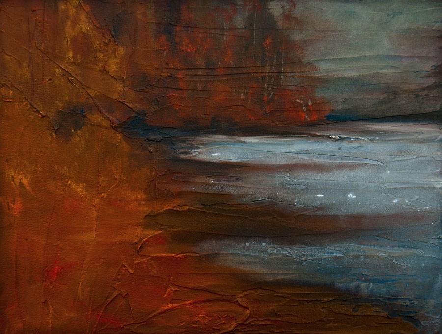 """Autumn On The Sound"" original fine art by Jani Freimann"