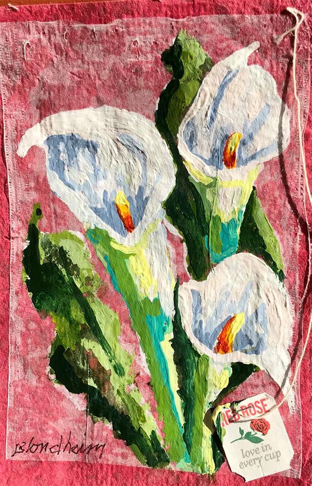 """Calla Lilies"" original fine art by Linda Blondheim"