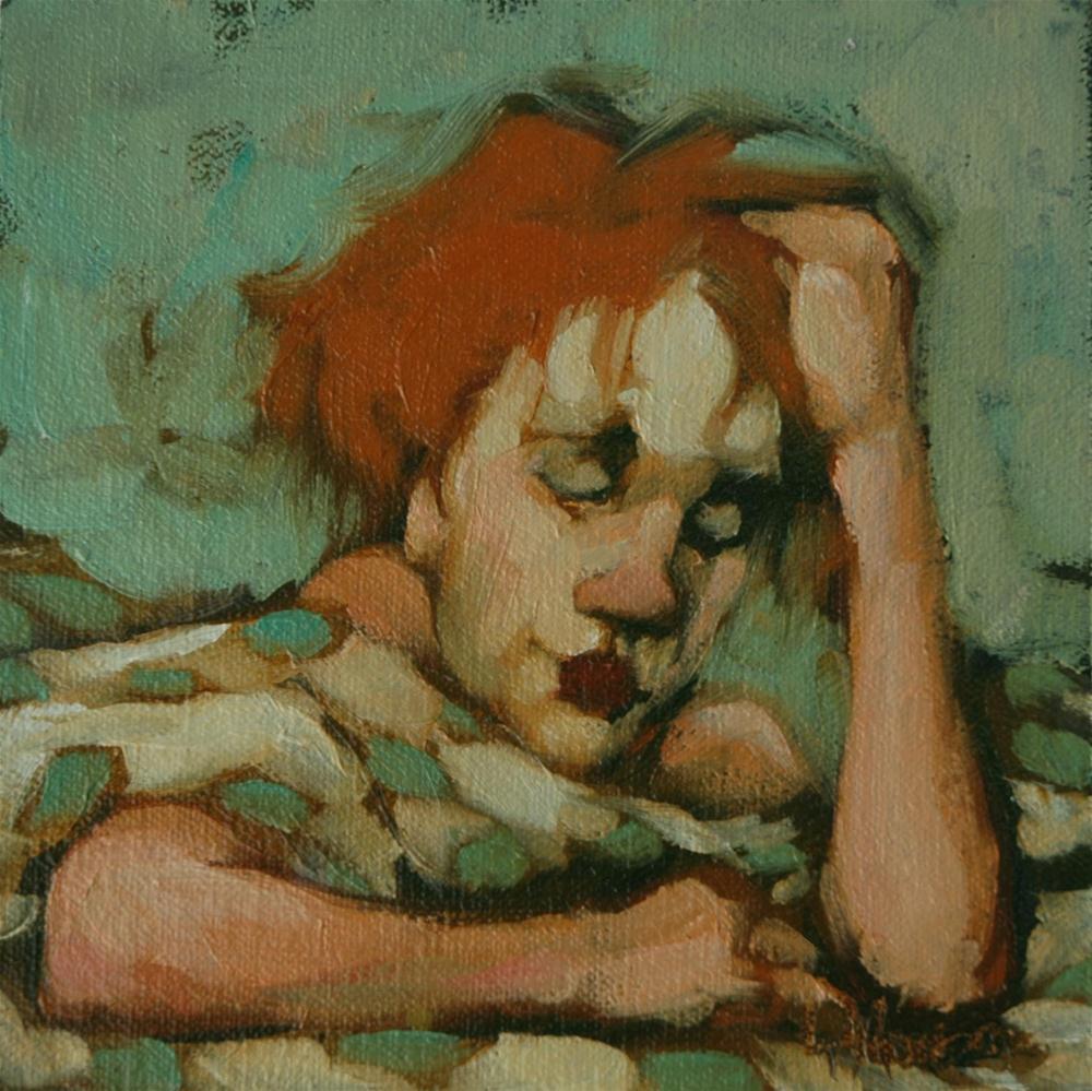 """Pondering Polka"" original fine art by Kayleen Horsma"