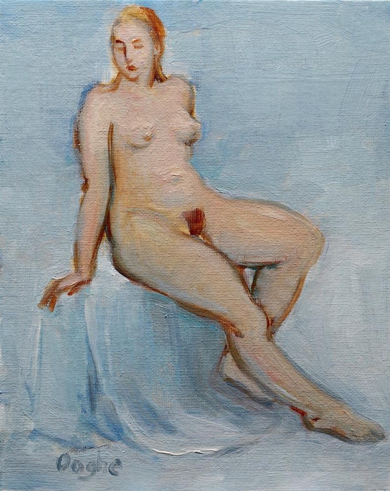 """Blond Nude"" original fine art by Angela Ooghe"