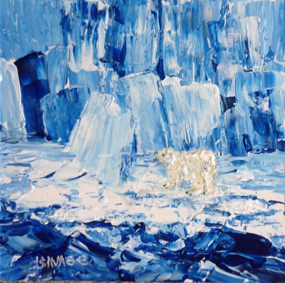 """""""Meltdown"""" original fine art by Judy Usavage"""