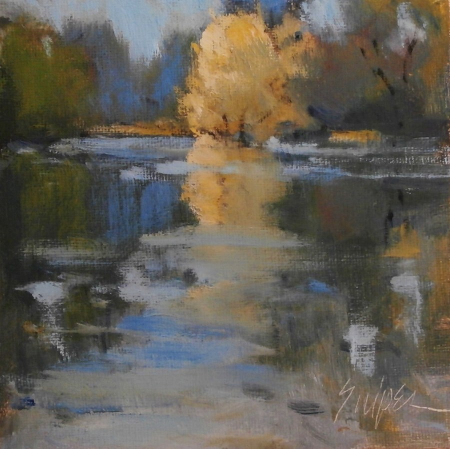 """""""Yellow Reflection"""" original fine art by Connie Snipes"""