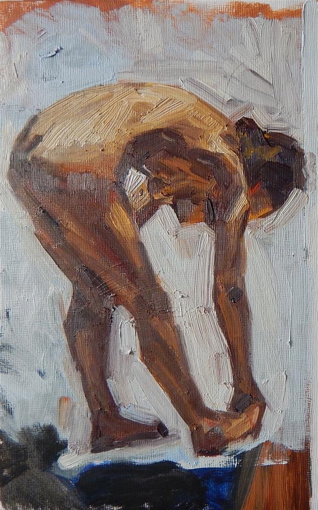"""Bending Over"" original fine art by Megan Schembre"