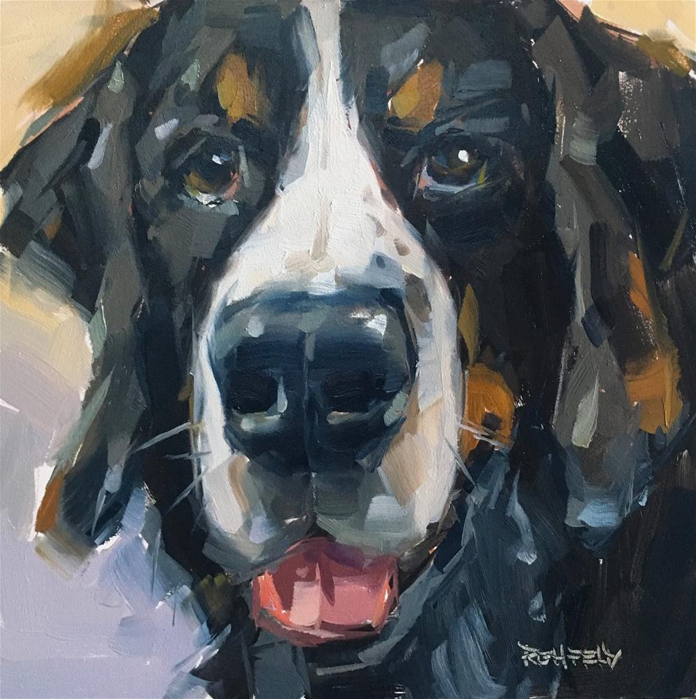 """Vedder the Bernese Mountain Dog"" original fine art by Cathleen Rehfeld"