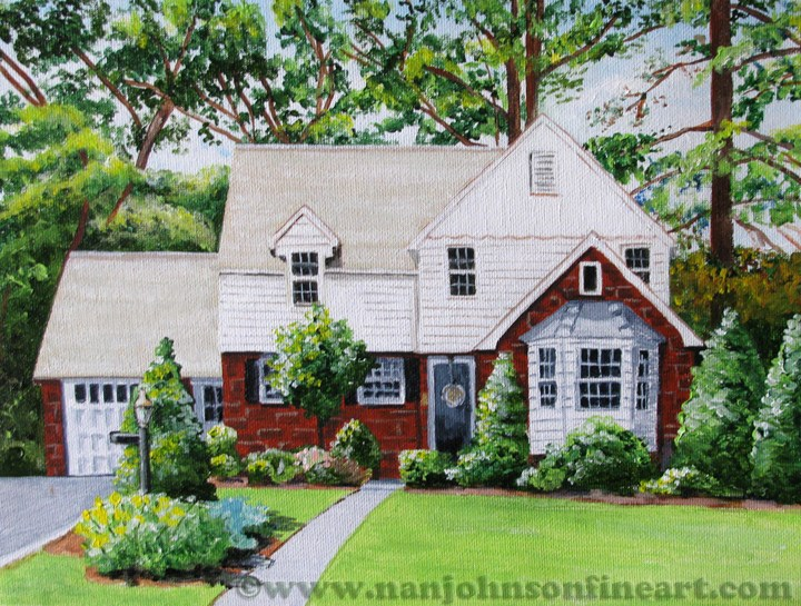 """Woodland Avenue"" original fine art by Nan Johnson"