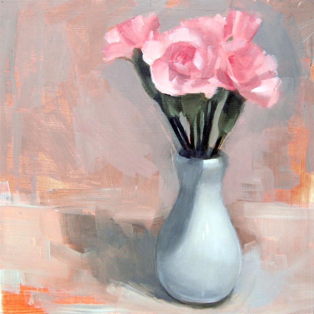 """Pink Roses (no.48)"" original fine art by Michael William"