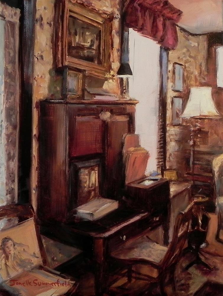 """""""Messy Desk II"""" original fine art by Jonelle Summerfield"""
