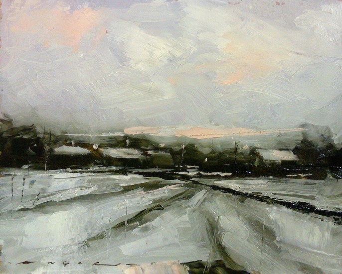 """Winter Fields_008"" original fine art by Angel Angelov"