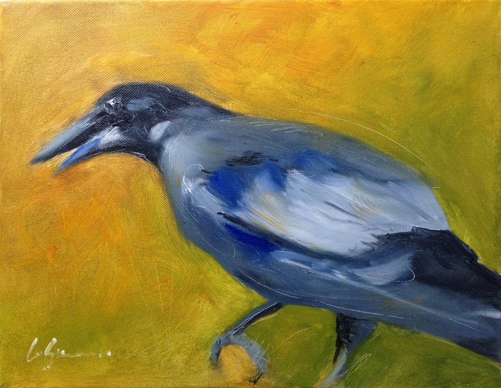 """The Raven"" original fine art by Cornelis vanSpronsen"