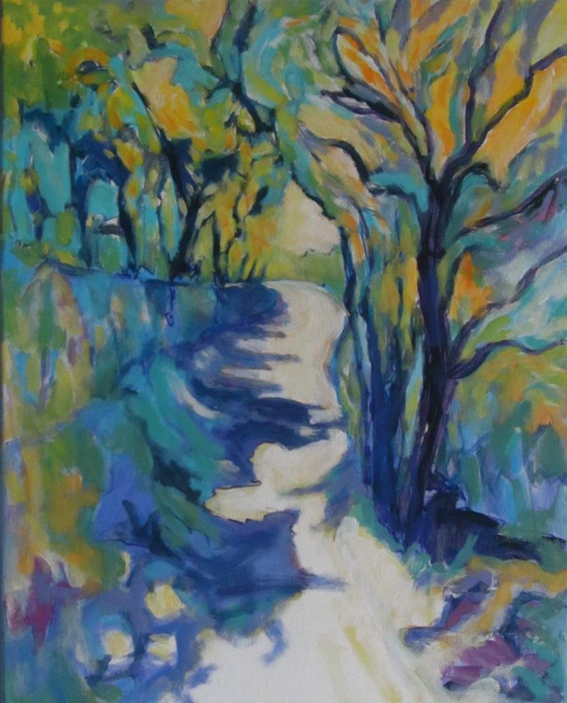 """""""Les Bassacs Promenade I"""" original fine art by Patricia MacDonald"""
