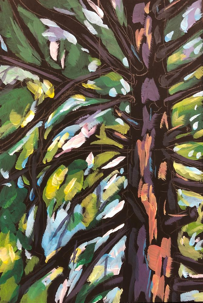 """Home Tree"" original fine art by Kat Corrigan"