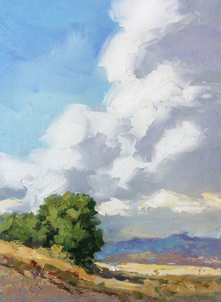 """SKY HIGH"" original fine art by Tom Brown"