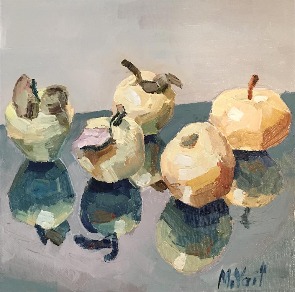 """Reflecting Apples"" original fine art by Milda Vaitiekunaite"