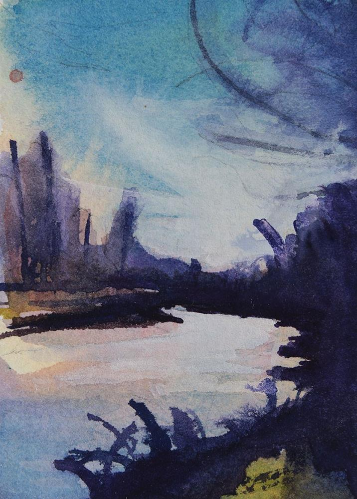 """Island Park, Late October"" original fine art by Chris Breier"